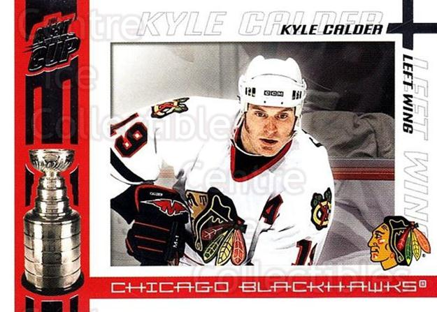 2003-04 Pacific Quest for the Cup #21 Kyle Calder<br/>6 In Stock - $1.00 each - <a href=https://centericecollectibles.foxycart.com/cart?name=2003-04%20Pacific%20Quest%20for%20the%20Cup%20%2321%20Kyle%20Calder...&quantity_max=6&price=$1.00&code=114419 class=foxycart> Buy it now! </a>