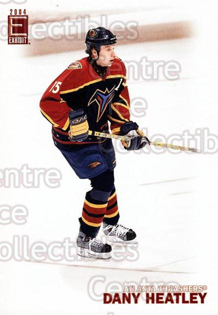 2003-04 Pacific Exhibit #153 Dany Heatley<br/>5 In Stock - $2.00 each - <a href=https://centericecollectibles.foxycart.com/cart?name=2003-04%20Pacific%20Exhibit%20%23153%20Dany%20Heatley...&quantity_max=5&price=$2.00&code=114983 class=foxycart> Buy it now! </a>