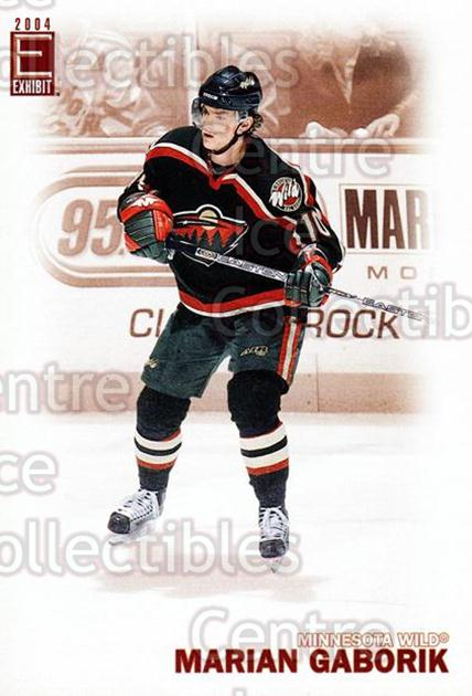 2003-04 Pacific Exhibit #173 Marian Gaborik<br/>4 In Stock - $2.00 each - <a href=https://centericecollectibles.foxycart.com/cart?name=2003-04%20Pacific%20Exhibit%20%23173%20Marian%20Gaborik...&quantity_max=4&price=$2.00&code=115004 class=foxycart> Buy it now! </a>