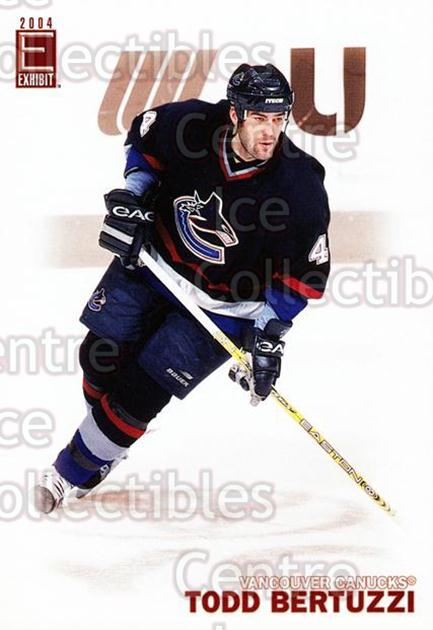 2003-04 Pacific Exhibit #197 Todd Bertuzzi<br/>3 In Stock - $2.00 each - <a href=https://centericecollectibles.foxycart.com/cart?name=2003-04%20Pacific%20Exhibit%20%23197%20Todd%20Bertuzzi...&quantity_max=3&price=$2.00&code=115027 class=foxycart> Buy it now! </a>
