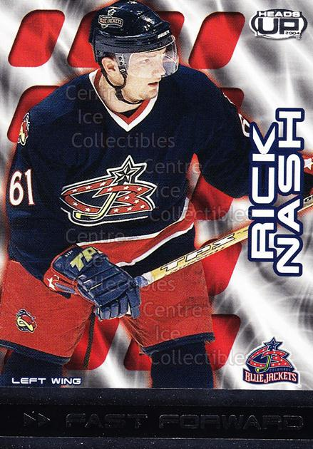 2003-04 Heads-Up Fast Forwards #3 Rick Nash<br/>4 In Stock - $2.00 each - <a href=https://centericecollectibles.foxycart.com/cart?name=2003-04%20Heads-Up%20Fast%20Forwards%20%233%20Rick%20Nash...&quantity_max=4&price=$2.00&code=115074 class=foxycart> Buy it now! </a>