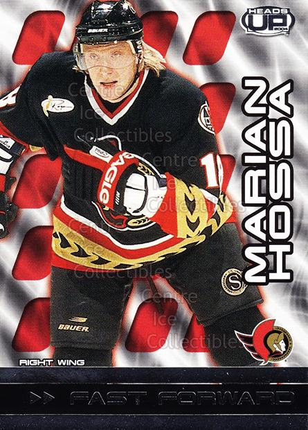 2003-04 Heads-Up Fast Forwards #6 Marian Hossa<br/>5 In Stock - $2.00 each - <a href=https://centericecollectibles.foxycart.com/cart?name=2003-04%20Heads-Up%20Fast%20Forwards%20%236%20Marian%20Hossa...&quantity_max=5&price=$2.00&code=115077 class=foxycart> Buy it now! </a>
