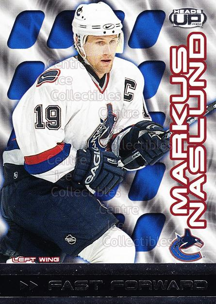 2003-04 Heads-Up Fast Forwards #9 Markus Naslund<br/>4 In Stock - $2.00 each - <a href=https://centericecollectibles.foxycart.com/cart?name=2003-04%20Heads-Up%20Fast%20Forwards%20%239%20Markus%20Naslund...&quantity_max=4&price=$2.00&code=115080 class=foxycart> Buy it now! </a>