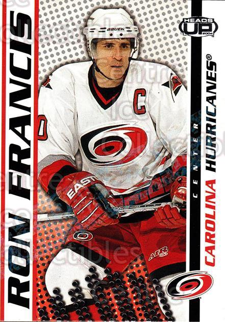 2003-04 Heads-Up Hobby LTD #17 Ron Francis<br/>3 In Stock - $3.00 each - <a href=https://centericecollectibles.foxycart.com/cart?name=2003-04%20Heads-Up%20Hobby%20LTD%20%2317%20Ron%20Francis...&quantity_max=3&price=$3.00&code=115122 class=foxycart> Buy it now! </a>
