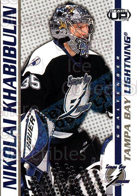 2003-04 Heads-Up Hobby LTD #86 Nikolai Khabibulin<br/>2 In Stock - $3.00 each - <a href=https://centericecollectibles.foxycart.com/cart?name=2003-04%20Heads-Up%20Hobby%20LTD%20%2386%20Nikolai%20Khabibu...&quantity_max=2&price=$3.00&code=115169 class=foxycart> Buy it now! </a>