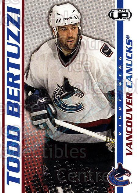 2003-04 Heads-Up Hobby LTD #94 Todd Bertuzzi<br/>3 In Stock - $3.00 each - <a href=https://centericecollectibles.foxycart.com/cart?name=2003-04%20Heads-Up%20Hobby%20LTD%20%2394%20Todd%20Bertuzzi...&quantity_max=3&price=$3.00&code=115175 class=foxycart> Buy it now! </a>