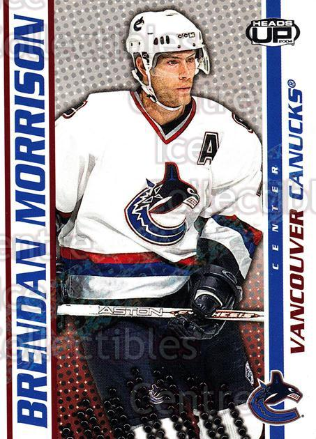 2003-04 Heads-Up Hobby LTD #97 Brendan Morrison<br/>3 In Stock - $3.00 each - <a href=https://centericecollectibles.foxycart.com/cart?name=2003-04%20Heads-Up%20Hobby%20LTD%20%2397%20Brendan%20Morriso...&quantity_max=3&price=$3.00&code=115178 class=foxycart> Buy it now! </a>