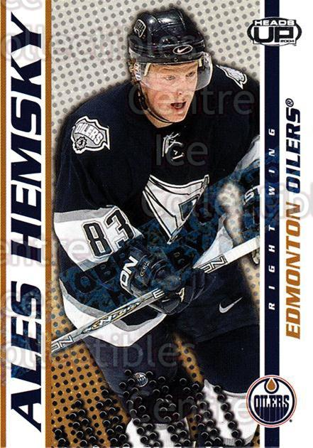 2003-04 Heads-Up Hobby LTD #41 Ales Hemsky<br/>2 In Stock - $3.00 each - <a href=https://centericecollectibles.foxycart.com/cart?name=2003-04%20Heads-Up%20Hobby%20LTD%20%2341%20Ales%20Hemsky...&quantity_max=2&price=$3.00&code=115188 class=foxycart> Buy it now! </a>