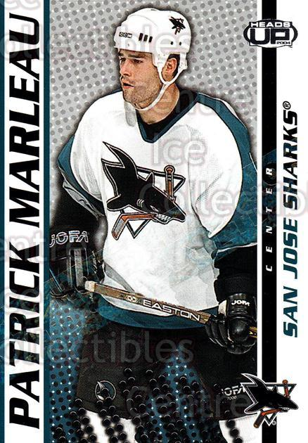 2003-04 Heads-Up Hobby LTD #83 Patrick Marleau<br/>4 In Stock - $3.00 each - <a href=https://centericecollectibles.foxycart.com/cart?name=2003-04%20Heads-Up%20Hobby%20LTD%20%2383%20Patrick%20Marleau...&quantity_max=4&price=$3.00&code=115202 class=foxycart> Buy it now! </a>
