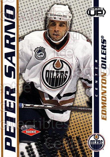 2003-04 Heads-Up #117 Peter Sarno<br/>1 In Stock - $3.00 each - <a href=https://centericecollectibles.foxycart.com/cart?name=2003-04%20Heads-Up%20%23117%20Peter%20Sarno...&quantity_max=1&price=$3.00&code=115344 class=foxycart> Buy it now! </a>