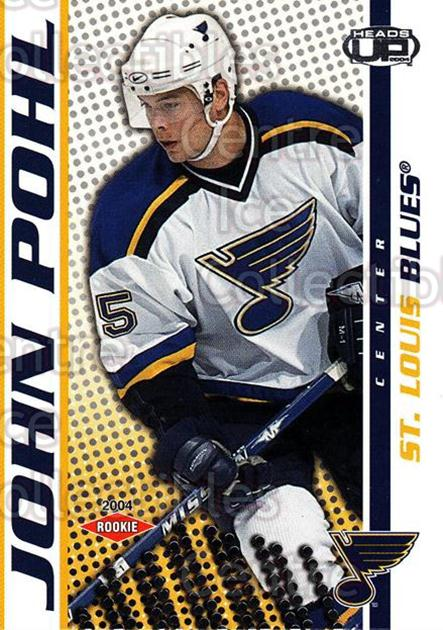 2003-04 Heads-Up #131 John Pohl<br/>2 In Stock - $3.00 each - <a href=https://centericecollectibles.foxycart.com/cart?name=2003-04%20Heads-Up%20%23131%20John%20Pohl...&quantity_max=2&price=$3.00&code=115355 class=foxycart> Buy it now! </a>