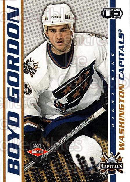 2003-04 Heads-Up #135 Boyd Gordon<br/>2 In Stock - $3.00 each - <a href=https://centericecollectibles.foxycart.com/cart?name=2003-04%20Heads-Up%20%23135%20Boyd%20Gordon...&price=$3.00&code=115359 class=foxycart> Buy it now! </a>