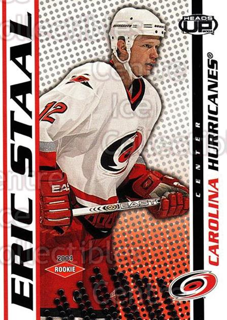 2003-04 Heads-Up #106 Eric Staal<br/>1 In Stock - $5.00 each - <a href=https://centericecollectibles.foxycart.com/cart?name=2003-04%20Heads-Up%20%23106%20Eric%20Staal...&quantity_max=1&price=$5.00&code=115365 class=foxycart> Buy it now! </a>