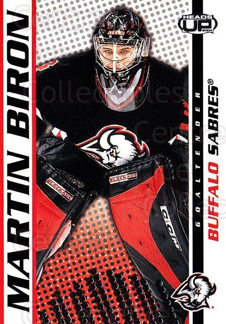 2003-04 Heads-Up #11 Martin Biron<br/>6 In Stock - $1.00 each - <a href=https://centericecollectibles.foxycart.com/cart?name=2003-04%20Heads-Up%20%2311%20Martin%20Biron...&quantity_max=6&price=$1.00&code=115366 class=foxycart> Buy it now! </a>