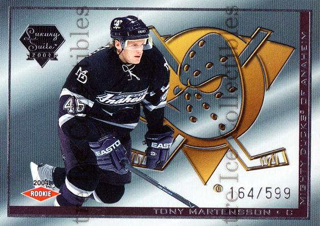 2003-04 Pacific Luxury Suite #52 Tony Martensson<br/>1 In Stock - $3.00 each - <a href=https://centericecollectibles.foxycart.com/cart?name=2003-04%20Pacific%20Luxury%20Suite%20%2352%20Tony%20Martensson...&quantity_max=1&price=$3.00&code=115821 class=foxycart> Buy it now! </a>