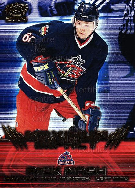 2003-04 Pacific Maximum Impact #3 Rick Nash<br/>2 In Stock - $2.00 each - <a href=https://centericecollectibles.foxycart.com/cart?name=2003-04%20Pacific%20Maximum%20Impact%20%233%20Rick%20Nash...&quantity_max=2&price=$2.00&code=115872 class=foxycart> Buy it now! </a>