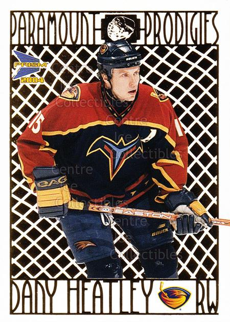 2003-04 Prism Paramount Prodigies #3 Dany Heatley<br/>3 In Stock - $2.00 each - <a href=https://centericecollectibles.foxycart.com/cart?name=2003-04%20Prism%20Paramount%20Prodigies%20%233%20Dany%20Heatley...&quantity_max=3&price=$2.00&code=115946 class=foxycart> Buy it now! </a>
