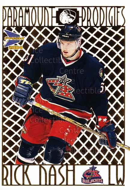 2003-04 Prism Paramount Prodigies #6 Rick Nash<br/>3 In Stock - $2.00 each - <a href=https://centericecollectibles.foxycart.com/cart?name=2003-04%20Prism%20Paramount%20Prodigies%20%236%20Rick%20Nash...&quantity_max=3&price=$2.00&code=115949 class=foxycart> Buy it now! </a>