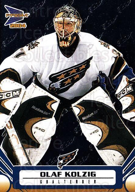 2003-04 Prism #100 Olaf Kolzig<br/>7 In Stock - $1.00 each - <a href=https://centericecollectibles.foxycart.com/cart?name=2003-04%20Prism%20%23100%20Olaf%20Kolzig...&quantity_max=7&price=$1.00&code=115974 class=foxycart> Buy it now! </a>