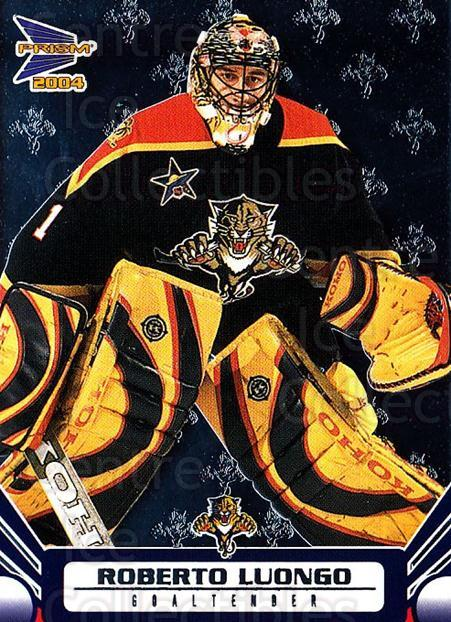 2003-04 Pacific Prism #45 Roberto Luongo<br/>7 In Stock - $2.00 each - <a href=https://centericecollectibles.foxycart.com/cart?name=2003-04%20Pacific%20Prism%20%2345%20Roberto%20Luongo...&quantity_max=7&price=$2.00&code=116002 class=foxycart> Buy it now! </a>