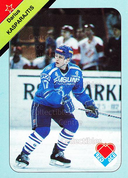 1992-93 Russian Stars Red Ace A #1 Darius Kasparaitis<br/>2 In Stock - $2.00 each - <a href=https://centericecollectibles.foxycart.com/cart?name=1992-93%20Russian%20Stars%20Red%20Ace%20A%20%231%20Darius%20Kasparai...&quantity_max=2&price=$2.00&code=11603 class=foxycart> Buy it now! </a>