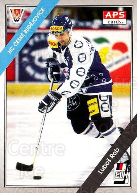 1994-95 Czech APS Extraliga #106 Lubos Rob<br/>11 In Stock - $2.00 each - <a href=https://centericecollectibles.foxycart.com/cart?name=1994-95%20Czech%20APS%20Extraliga%20%23106%20Lubos%20Rob...&quantity_max=11&price=$2.00&code=1160 class=foxycart> Buy it now! </a>