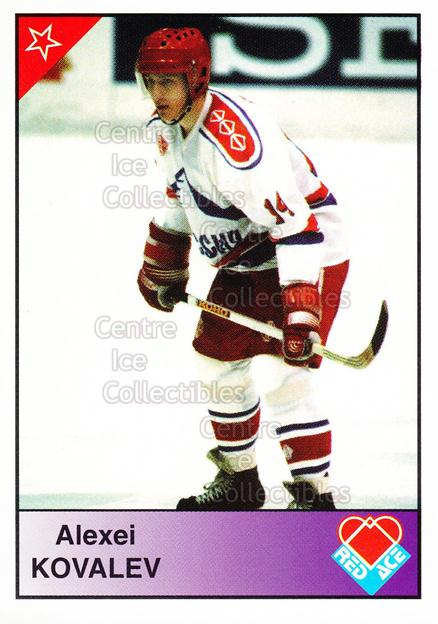1992-93 Russian Stars Red Ace B #17 Alexei Kovalev<br/>8 In Stock - $3.00 each - <a href=https://centericecollectibles.foxycart.com/cart?name=1992-93%20Russian%20Stars%20Red%20Ace%20B%20%2317%20Alexei%20Kovalev...&price=$3.00&code=11612 class=foxycart> Buy it now! </a>