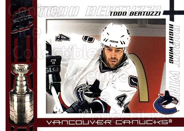 2003-04 Pacific Quest for the Cup #97 Todd Bertuzzi<br/>6 In Stock - $1.00 each - <a href=https://centericecollectibles.foxycart.com/cart?name=2003-04%20Pacific%20Quest%20for%20the%20Cup%20%2397%20Todd%20Bertuzzi...&quantity_max=6&price=$1.00&code=116160 class=foxycart> Buy it now! </a>
