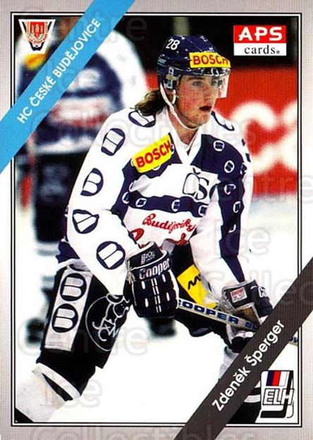 1994-95 Czech APS Extraliga #107 Zdenek Sperger<br/>9 In Stock - $2.00 each - <a href=https://centericecollectibles.foxycart.com/cart?name=1994-95%20Czech%20APS%20Extraliga%20%23107%20Zdenek%20Sperger...&quantity_max=9&price=$2.00&code=1161 class=foxycart> Buy it now! </a>