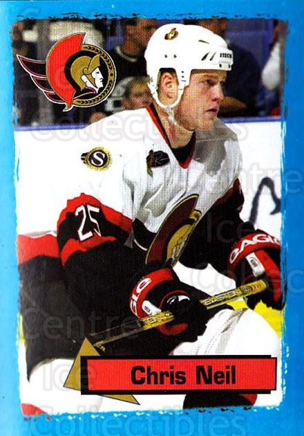 2003-04 Panini Stickers #128 Chris Neil<br/>6 In Stock - $1.00 each - <a href=https://centericecollectibles.foxycart.com/cart?name=2003-04%20Panini%20Stickers%20%23128%20Chris%20Neil...&quantity_max=6&price=$1.00&code=116524 class=foxycart> Buy it now! </a>