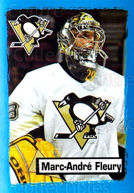 2003-04 Panini Stickers #146 Marc-Andre Fleury<br/>1 In Stock - $5.00 each - <a href=https://centericecollectibles.foxycart.com/cart?name=2003-04%20Panini%20Stickers%20%23146%20Marc-Andre%20Fleu...&quantity_max=1&price=$5.00&code=116542 class=foxycart> Buy it now! </a>