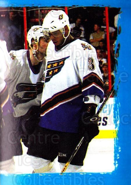 2003-04 Panini Stickers #187 Jason Doig, Joel Kwiatkowski, Washington Capitals<br/>4 In Stock - $1.00 each - <a href=https://centericecollectibles.foxycart.com/cart?name=2003-04%20Panini%20Stickers%20%23187%20Jason%20Doig,%20Joe...&quantity_max=4&price=$1.00&code=116583 class=foxycart> Buy it now! </a>