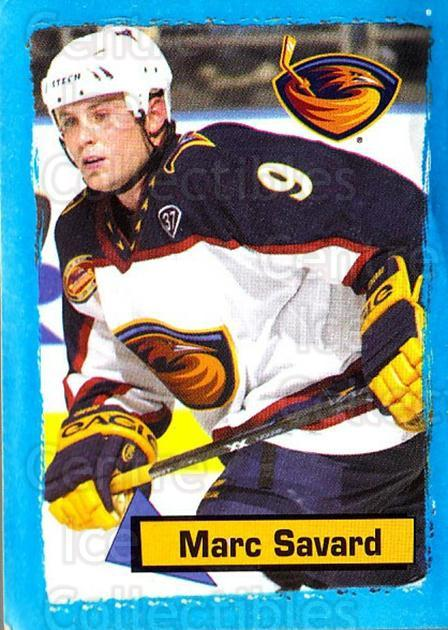 2003-04 Panini Stickers #2 Marc Savard<br/>7 In Stock - $1.00 each - <a href=https://centericecollectibles.foxycart.com/cart?name=2003-04%20Panini%20Stickers%20%232%20Marc%20Savard...&quantity_max=7&price=$1.00&code=116597 class=foxycart> Buy it now! </a>