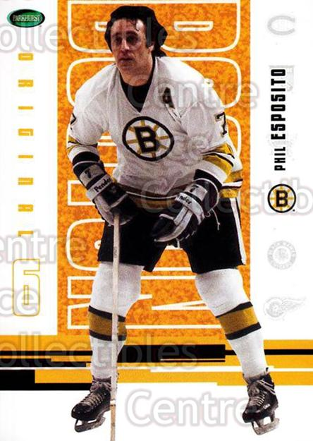 2003-04 Parkhurst Original Six Boston Bruins #52 Phil Esposito<br/>8 In Stock - $2.00 each - <a href=https://centericecollectibles.foxycart.com/cart?name=2003-04%20Parkhurst%20Original%20Six%20Boston%20Bruins%20%2352%20Phil%20Esposito...&quantity_max=8&price=$2.00&code=116685 class=foxycart> Buy it now! </a>