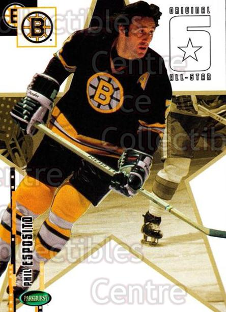2003-04 Parkhurst Original Six Boston Bruins #66 Phil Esposito<br/>11 In Stock - $2.00 each - <a href=https://centericecollectibles.foxycart.com/cart?name=2003-04%20Parkhurst%20Original%20Six%20Boston%20Bruins%20%2366%20Phil%20Esposito...&quantity_max=11&price=$2.00&code=116699 class=foxycart> Buy it now! </a>