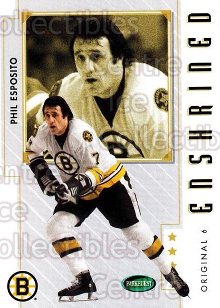2003-04 Parkhurst Original Six Boston Bruins #83 Phil Esposito<br/>9 In Stock - $2.00 each - <a href=https://centericecollectibles.foxycart.com/cart?name=2003-04%20Parkhurst%20Original%20Six%20Boston%20Bruins%20%2383%20Phil%20Esposito...&quantity_max=9&price=$2.00&code=116716 class=foxycart> Buy it now! </a>