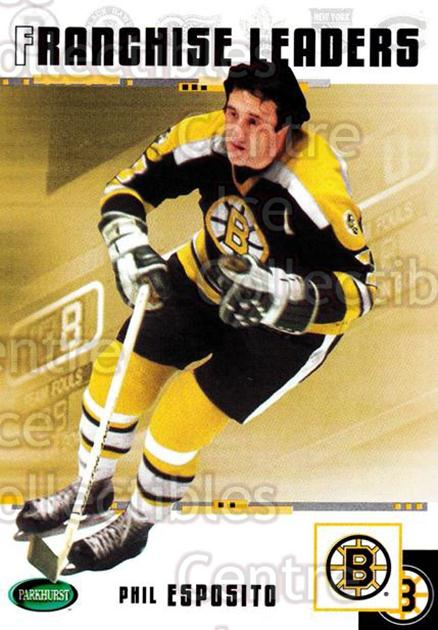 2003-04 Parkhurst Original Six Boston Bruins #96 Phil Esposito<br/>9 In Stock - $2.00 each - <a href=https://centericecollectibles.foxycart.com/cart?name=2003-04%20Parkhurst%20Original%20Six%20Boston%20Bruins%20%2396%20Phil%20Esposito...&quantity_max=9&price=$2.00&code=116728 class=foxycart> Buy it now! </a>