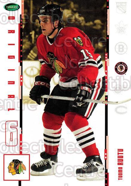 2003-04 Parkhurst Original Six Chicago Blackhawks #14 Tuomo Ruutu<br/>8 In Stock - $1.00 each - <a href=https://centericecollectibles.foxycart.com/cart?name=2003-04%20Parkhurst%20Original%20Six%20Chicago%20Blackhawks%20%2314%20Tuomo%20Ruutu...&quantity_max=8&price=$1.00&code=116747 class=foxycart> Buy it now! </a>