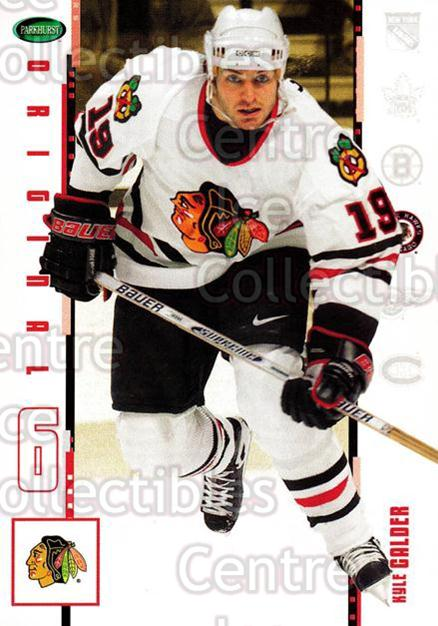 2003-04 Parkhurst Original Six Chicago Blackhawks #4 Kyle Calder<br/>11 In Stock - $1.00 each - <a href=https://centericecollectibles.foxycart.com/cart?name=2003-04%20Parkhurst%20Original%20Six%20Chicago%20Blackhawks%20%234%20Kyle%20Calder...&quantity_max=11&price=$1.00&code=116775 class=foxycart> Buy it now! </a>