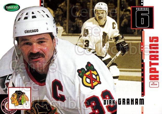 2003-04 Parkhurst Original Six Chicago Blackhawks #77 Dirk Graham<br/>6 In Stock - $1.00 each - <a href=https://centericecollectibles.foxycart.com/cart?name=2003-04%20Parkhurst%20Original%20Six%20Chicago%20Blackhawks%20%2377%20Dirk%20Graham...&quantity_max=6&price=$1.00&code=116815 class=foxycart> Buy it now! </a>