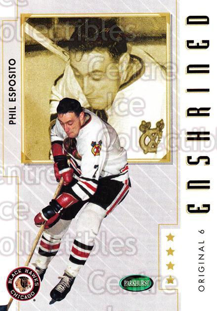 2003-04 Parkhurst Original Six Chicago Blackhawks #87 Phil Esposito<br/>9 In Stock - $2.00 each - <a href=https://centericecollectibles.foxycart.com/cart?name=2003-04%20Parkhurst%20Original%20Six%20Chicago%20Blackhawks%20%2387%20Phil%20Esposito...&quantity_max=9&price=$2.00&code=116826 class=foxycart> Buy it now! </a>
