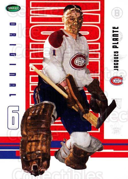 2003-04 Parkhurst Original Six Montreal Canadiens #59 Jacques Plante<br/>2 In Stock - $2.00 each - <a href=https://centericecollectibles.foxycart.com/cart?name=2003-04%20Parkhurst%20Original%20Six%20Montreal%20Canadiens%20%2359%20Jacques%20Plante...&quantity_max=2&price=$2.00&code=116949 class=foxycart> Buy it now! </a>