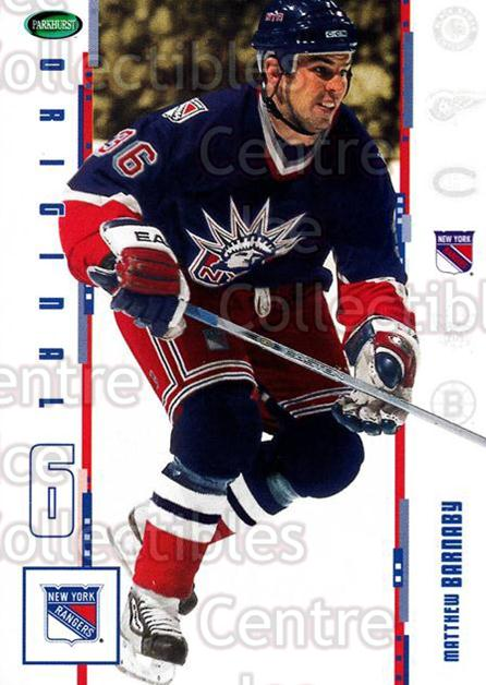 2003-04 Parkhurst Original Six New York Rangers #1 Matthew Barnaby<br/>7 In Stock - $1.00 each - <a href=https://centericecollectibles.foxycart.com/cart?name=2003-04%20Parkhurst%20Original%20Six%20New%20York%20Rangers%20%231%20Matthew%20Barnaby...&quantity_max=7&price=$1.00&code=117000 class=foxycart> Buy it now! </a>
