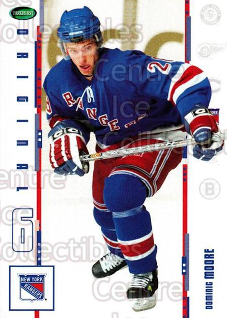 2003-04 Parkhurst Original Six New York Rangers #16 Dominic Moore<br/>5 In Stock - $1.00 each - <a href=https://centericecollectibles.foxycart.com/cart?name=2003-04%20Parkhurst%20Original%20Six%20New%20York%20Rangers%20%2316%20Dominic%20Moore...&quantity_max=5&price=$1.00&code=117008 class=foxycart> Buy it now! </a>