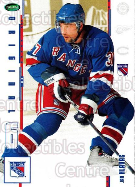 2003-04 Parkhurst Original Six New York Rangers #21 Jan Hlavac<br/>7 In Stock - $1.00 each - <a href=https://centericecollectibles.foxycart.com/cart?name=2003-04%20Parkhurst%20Original%20Six%20New%20York%20Rangers%20%2321%20Jan%20Hlavac...&quantity_max=7&price=$1.00&code=117014 class=foxycart> Buy it now! </a>