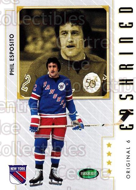 2003-04 Parkhurst Original Six New York Rangers #84 Phil Esposito<br/>7 In Stock - $2.00 each - <a href=https://centericecollectibles.foxycart.com/cart?name=2003-04%20Parkhurst%20Original%20Six%20New%20York%20Rangers%20%2384%20Phil%20Esposito...&quantity_max=7&price=$2.00&code=117079 class=foxycart> Buy it now! </a>