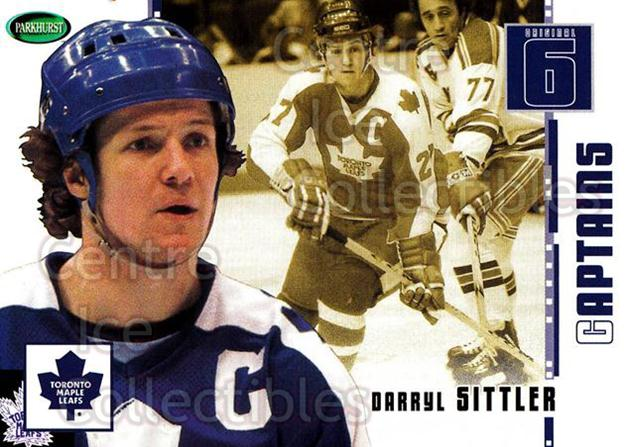 2003-04 Parkhurst Original Six Toronto Maple Leafs #79 Darryl Sittler<br/>7 In Stock - $2.00 each - <a href=https://centericecollectibles.foxycart.com/cart?name=2003-04%20Parkhurst%20Original%20Six%20Toronto%20Maple%20Leafs%20%2379%20Darryl%20Sittler...&quantity_max=7&price=$2.00&code=117163 class=foxycart> Buy it now! </a>