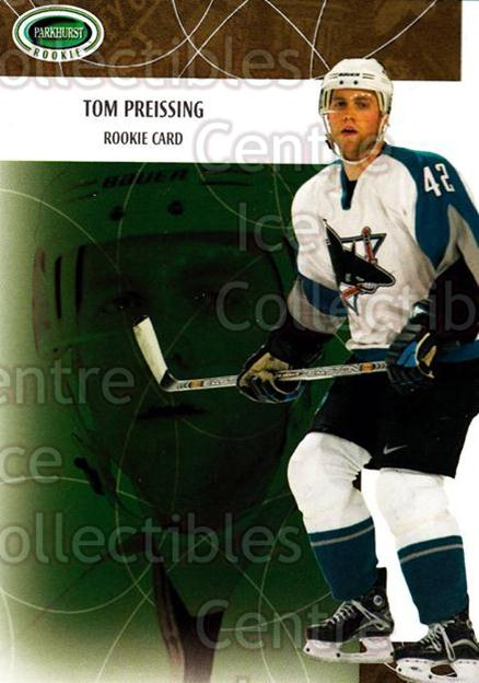 2003-04 Parkhurst Rookie #119 Tom Preissing<br/>6 In Stock - $5.00 each - <a href=https://centericecollectibles.foxycart.com/cart?name=2003-04%20Parkhurst%20Rookie%20%23119%20Tom%20Preissing...&quantity_max=6&price=$5.00&code=117200 class=foxycart> Buy it now! </a>