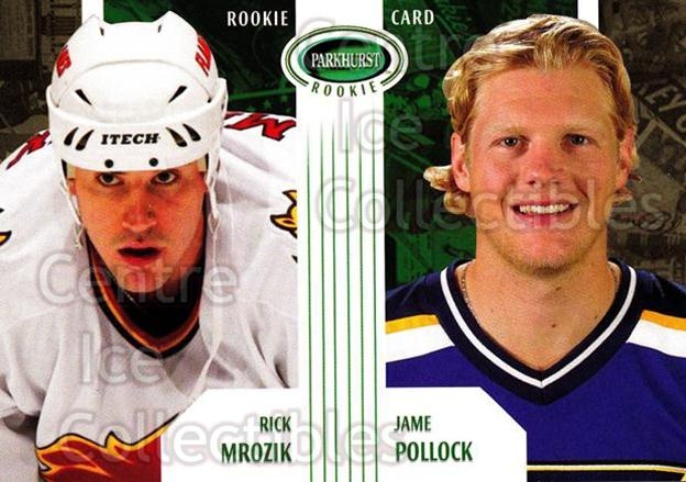 2003-04 Parkhurst Rookie #65 Rick Mrozik, Jame Pollock<br/>2 In Stock - $5.00 each - <a href=https://centericecollectibles.foxycart.com/cart?name=2003-04%20Parkhurst%20Rookie%20%2365%20Rick%20Mrozik,%20Ja...&price=$5.00&code=117251 class=foxycart> Buy it now! </a>