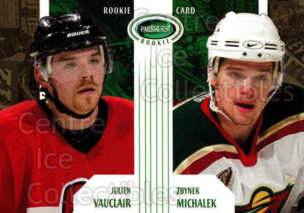 2003-04 Parkhurst Rookie #71 Julien Vauclair, Zbynek Michalek<br/>7 In Stock - $5.00 each - <a href=https://centericecollectibles.foxycart.com/cart?name=2003-04%20Parkhurst%20Rookie%20%2371%20Julien%20Vauclair...&quantity_max=7&price=$5.00&code=117257 class=foxycart> Buy it now! </a>